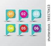 vector clean modern blue... | Shutterstock .eps vector #583170613