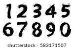 set of grunge numbers.vector... | Shutterstock .eps vector #583171507