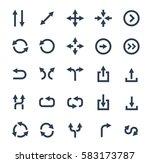 arrows vector icon set | Shutterstock .eps vector #583173787