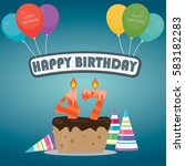 47th birthday cake and... | Shutterstock .eps vector #583182283
