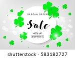 sale poster for st. patrick's...   Shutterstock .eps vector #583182727
