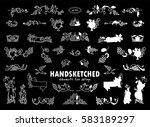 vector set of calligraphic... | Shutterstock .eps vector #583189297