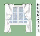 open drapery curtain...   Shutterstock .eps vector #583198927