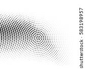 vector halftone dots. abstract... | Shutterstock .eps vector #583198957