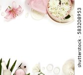 health and beauty template with ... | Shutterstock . vector #583208953