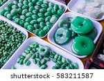 Many Green Jade Stones