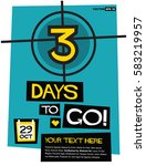 3 days to go   flat style... | Shutterstock .eps vector #583219957