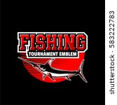 fishing emblem with black... | Shutterstock .eps vector #583222783