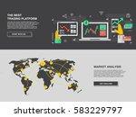 market trade in world. binary... | Shutterstock .eps vector #583229797