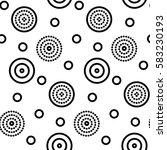 vector flat geometric pattern... | Shutterstock .eps vector #583230193