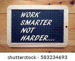 the words work smarter not...   Shutterstock . vector #583234693