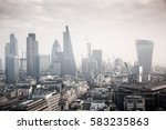 rooftop view over london on a... | Shutterstock . vector #583235863