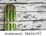 Asparagus. Raw Asparagus. Fres...