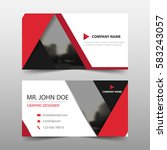 red triangle corporate business ... | Shutterstock .eps vector #583243057