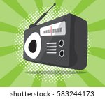 abstract radio icon with half...   Shutterstock .eps vector #583244173