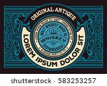 horizontal old whiskey card | Shutterstock .eps vector #583253257