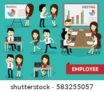 employee collection doing... | Shutterstock .eps vector #583255057