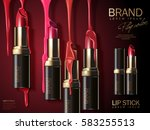 fashion lipstick ads  liquid... | Shutterstock .eps vector #583255513