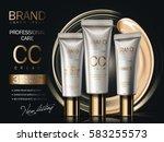 professional cc cream ads ... | Shutterstock .eps vector #583255573