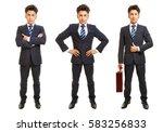 three versions of full body... | Shutterstock . vector #583256833