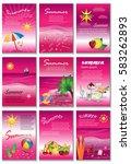 summer template banner set...   Shutterstock .eps vector #583262893