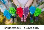 hands   palms of young people... | Shutterstock . vector #583265587