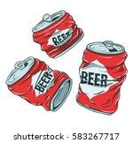 set of sketchy crumpled beer... | Shutterstock .eps vector #583267717