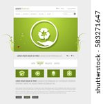 green eco website interface...