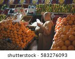 local arabic food market   Shutterstock . vector #583276093