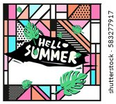 trendy vector summer cards...   Shutterstock .eps vector #583277917