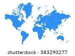vector map continent country | Shutterstock .eps vector #583290277