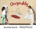 children fun connect the dots... | Shutterstock . vector #583299163
