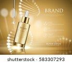 golden repair serum with... | Shutterstock .eps vector #583307293
