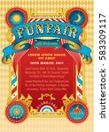 Funfair Vector Template. Circu...