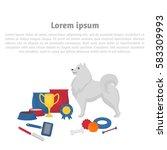 Samoyed With Dog Items. Pet...
