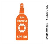 sun protection vector | Shutterstock .eps vector #583310437