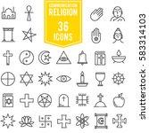 set vector images of religions... | Shutterstock .eps vector #583314103