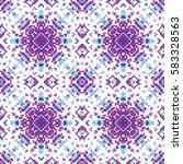 vector abstract seamless pixel... | Shutterstock .eps vector #583328563