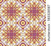 vector abstract seamless pixel... | Shutterstock .eps vector #583328587