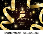 vip invitation members only ... | Shutterstock .eps vector #583328803