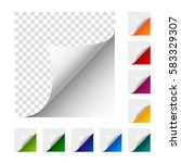 collection of vector paper... | Shutterstock .eps vector #583329307