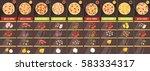 menu template in cartoon style... | Shutterstock .eps vector #583334317