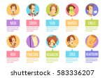 colored and isolated cartoon... | Shutterstock .eps vector #583336207