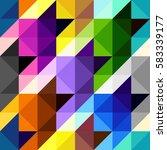 seamless geometric pattern.... | Shutterstock .eps vector #583339177
