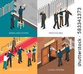 celebrities bodyguards... | Shutterstock .eps vector #583341373