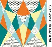 creative symmetric abstract... | Shutterstock .eps vector #583342693