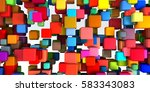 colorful geometric abstract... | Shutterstock . vector #583343083