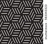 cubic grid tiling endless... | Shutterstock .eps vector #583343323