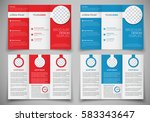 design folding brochures for... | Shutterstock .eps vector #583343647