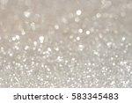 silver glittering christmas...   Shutterstock . vector #583345483